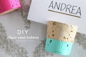 Diy Table Number Holders Diy Color Dipped Cork Place Card Holders Weddingomania