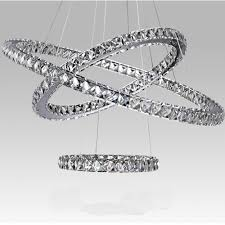 dining room crystal chandeliers modern diamond ring led k9 crystal chandelier light fixture for