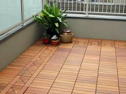 terrace and balcony wood tiles ideas and other floor coverings