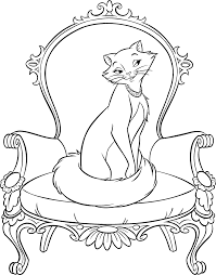 this is a high resolution colouring page from the aristocats that
