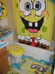 awesome sponge bob square pants kids bathroom set design with