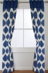 Lined Curtains Diy Inspiration Inspire Ikat Spot Lined Ring Top Curtains 46x72cm Navy In