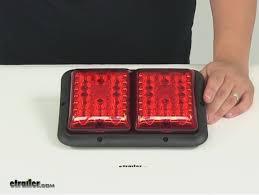 enclosed trailer led lights compare bargman led recessed vs bargman led upgrade etrailer com
