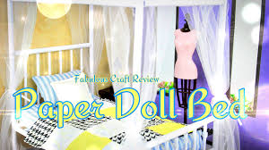 fabulous craft review paper doll bed youtube