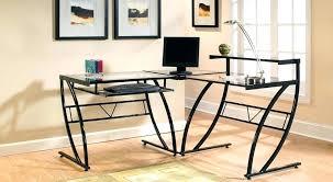 black l shaped computer desk black l shaped computer desk l shaped black glass corner computer