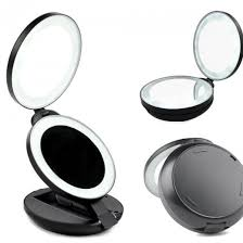 Magnifying Makeup Mirror With Light Lighted Travel Makeup Mirror With 10x Magnifying Campaign