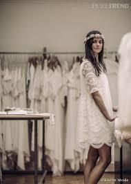 robe de mari e boheme chic mariage civil laure de sagazan présente ses robes de mariée chic