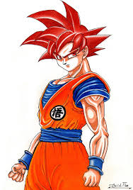 son goku super saiyan god acid flo deviantart