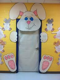 easter door decorations easter bunny door decoration in kindergarten has sprung