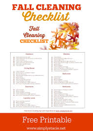 fall cleaning schedule with free printable simply stacie