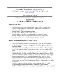 Janitorial Resume Examples by Janitor Responsibilities Resume Free Resume Example And Writing