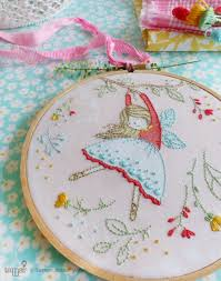 hand embroidery kit embroidery hoop art christmas idea