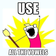 all the vowels