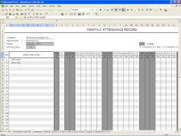Microsoft Spreadsheet Template Attendance Spreadsheet Template Excel Masir