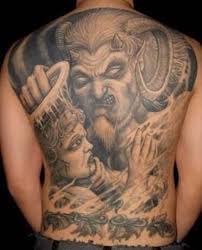 huge satan tattoo on back tattoo designs tattoo pictures