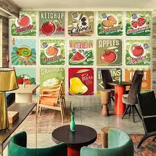 poster k che foto tapete nostalgischen retro obst gemüse poster restaurant