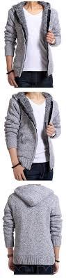 men thick velvet cotton hooded fur jacket mens winter padded