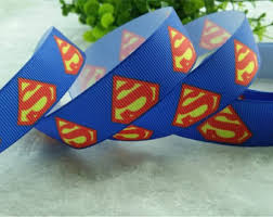 superman ribbon superman ribbon etsy