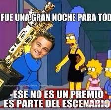 Leonardo Dicaprio No Oscar Meme - oscars 2016 leonardo dicaprio se marca un homer simpson