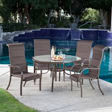coral coast del rey deluxe padded sling patio dining set seats 4