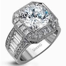 large engagement rings simon g 18k large center halo diamond engagement ring