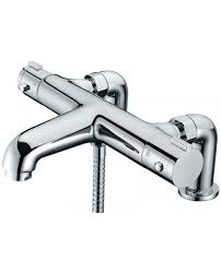 libra deck mounted thermostatic bath shower mixer tap more views libra deck mounted thermostatic bath shower mixer tap