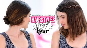easy hairstyles for short hair tutorial step by step youtube