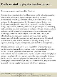 Teaching Resume Samples Entry Level by Top 8 Physics Teacher Resume Samples