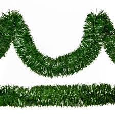 50 ft pine green tinsel garland unlit 1000bulbs