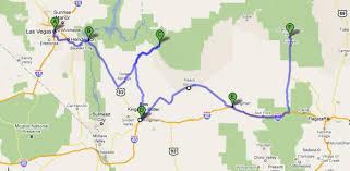 map las vegas and grand west grand arizona le de nad et
