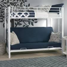 White Futon Bunk Bed Sturdy Metal Futon Bunk Bed In White Finish