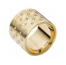 monogram ring gold gold monogram ring ebay