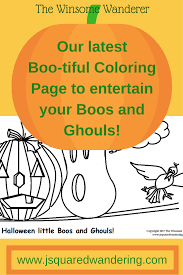 free downloadable fall coloring page for boos and ghouls