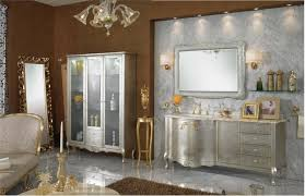 Classic Bathroom Furniture Delux Bathroom Design With Marble Wall Vanity And Silver Vanity