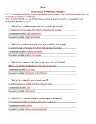 subjects scientific method review identifying variables worksheet