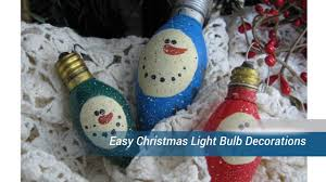 easy christmas light bulb decorations youtube