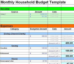 Family Budget Excel Template Household Budget Templates Find Word Templates
