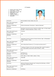 Blank Resume Template Download Blank Cv Format Download Sample Resume Format For Fresh Resume