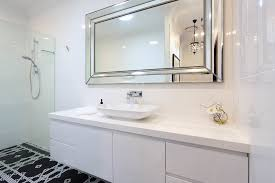 Glass Mirrors For Bathrooms Large Frameless Bathroom Mirror Visionexchange Co