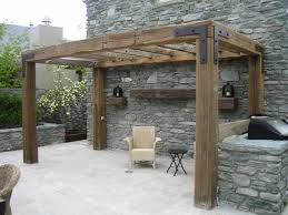 rustic timber pergola love the simple look but with less roof