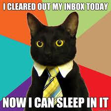 Inbox Meme - i cleared out my inbox today cat meme cat planet cat planet