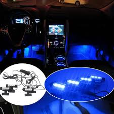 car led interior decoration under dash floor led light strip lamp