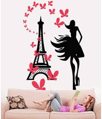 Eiffel Tower Decoration Hoopoe Decor Fashion With Eiffel Tower Wall Stickers And Wall