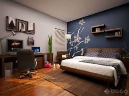 Bedroom With Accent Wall by Brown Line Pattern Rectangle Double Pillows Accent Wall Ideas For