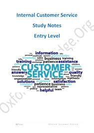 internal customer service study notes