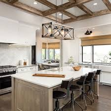 rustic glass kitchen cabinets lnc rustic chandelier 4 light linear kitchen island lighting