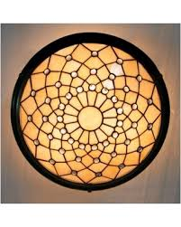 Stained Glass Ceiling Light Deals 39 Metal Decor Beige Stained Glass