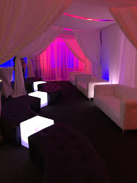 Lounge Benches Lounge Furniture Led Cubes Pipe And Drape And Fuschia Uplighting