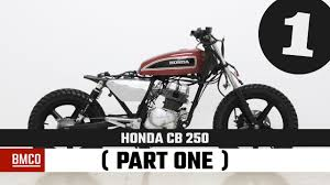 honda cb honda cb 250 part one motorcycle modification youtube