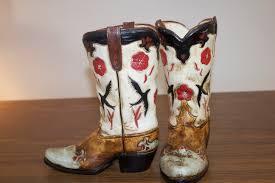 Cowboy Boot Planter by Ceramic Cowboy Boot Planters Horses U0026 Heels